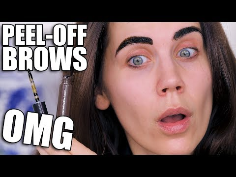 PEEL OFF BROWS ... OMG!