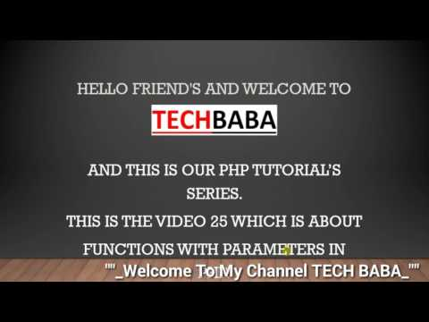 Function With Parameters In PHP
