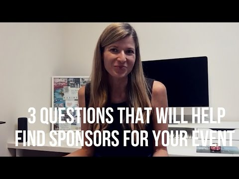 3 Steps to help you create a list of sponsors for your event