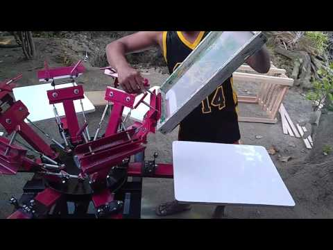6 station 6 colors rotary silk screen printing machine
