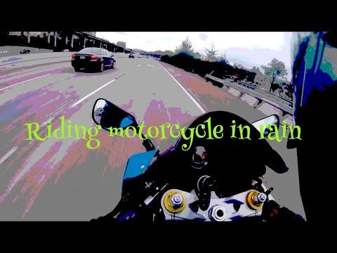 How to ride motorcycle in the rain in freeway Highway Ninja Zx6r 636