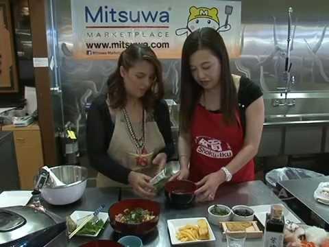 Chirashi Bowl Topped with Fresh Seafood & Matcha Pudding