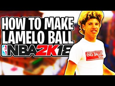 How To Make Your MyPlayer EXACTLY Like Lamelo Ball NBA 2K18! Lamelo Face Creation + Build!