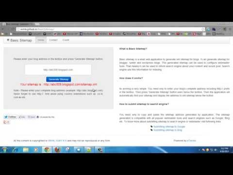 Submitting Xml Sitemap for Blogger Blog Using Basic Sitemap Generator