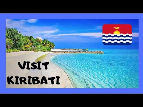 LANDING in beautiful KIRIBATI  (Tarawa Atoll, Gilbert Islands), PACIFIC OCEAN