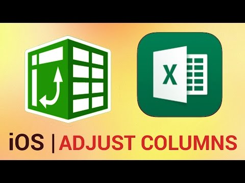 How to Adjust Columns, Rows and Text in Excel for iPad