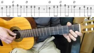 Guitar Lesson - One Direction - What Makes You Beautiful - Easy Guitar Melody Tutorial   Tab