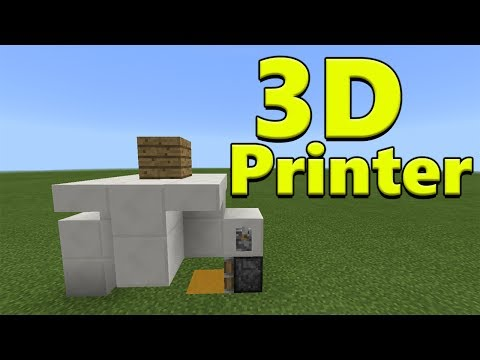 3D PRINTER | Minecraft PE Redstone Creation