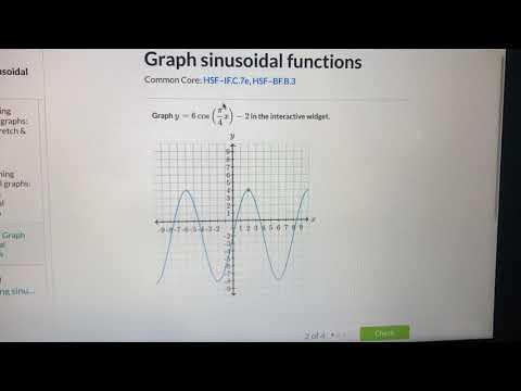 Algebra 2 - trigonometry graph from function asmr