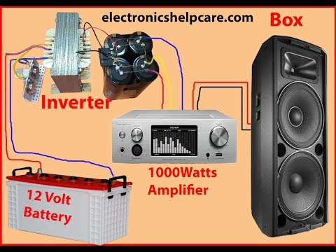 How to make 12 volt to 50 volt inverter Circuit Diagram using 2N3055