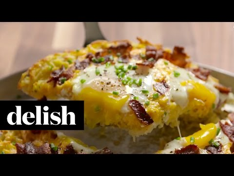 How To Make Breakfast Pizza | Delish