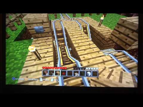 Minecraft: Compact Stop, Go, Return Mine Cart Station for Xbox360