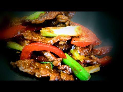 Chinese Hoisin Beef Stir Fry - Inner Mongolian Cooking Recipe