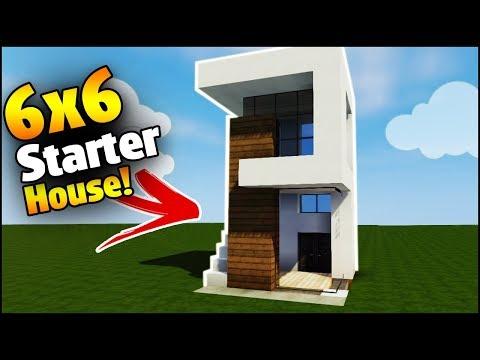 Minecraft House Tutorial: 6x6 Modern House - Best House Tutorial