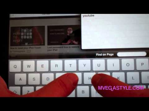 How to split the iPad keyboard