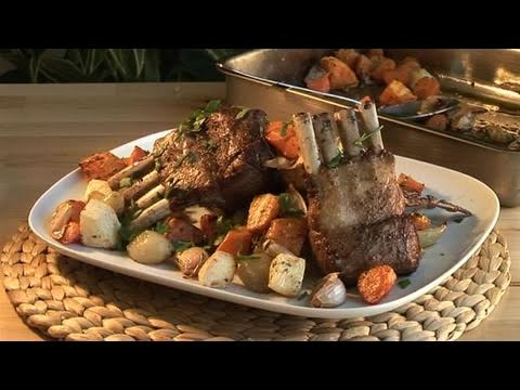 How To Prepare Roasted Vegetables And Lamb Chops