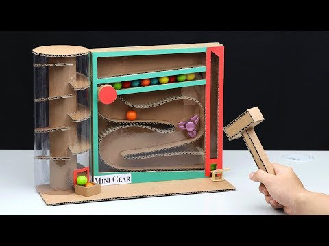 How to Make Gumball Vending Machine from Cardboard without DC Motor