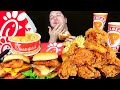 Delicious Chick-Fil-A & Popeyes Combo • MUKBANG