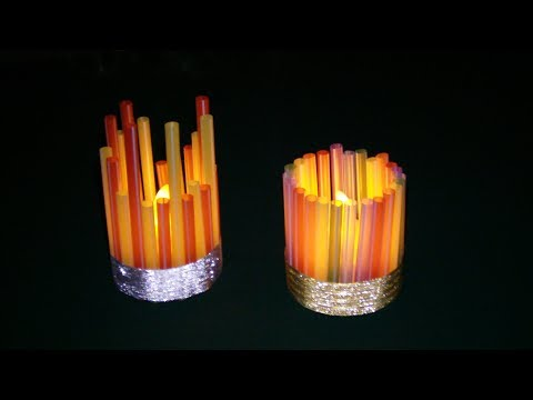 How To Make A Straw Night Light
