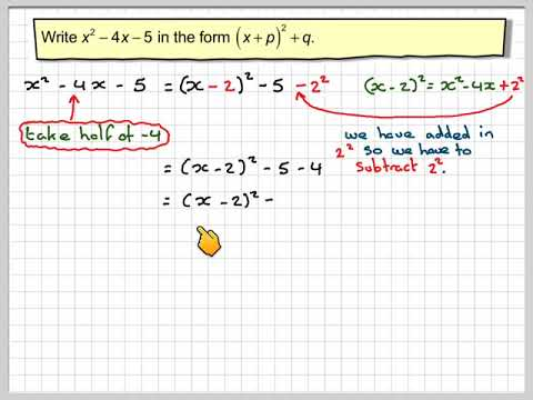 Completing the square 01