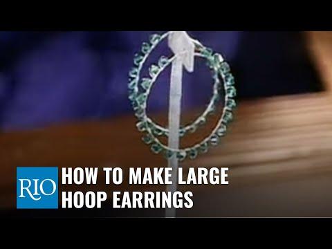 How-to Make Silver Large Hoop Earrings
