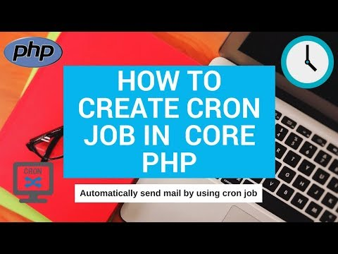 how to create cron job in core php