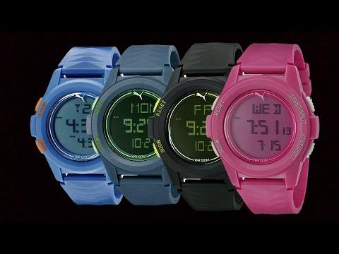 PUMA Men's Vertical Collection Digital Display Quartz Watch