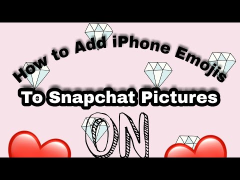 How to Add Iphone Emojis to Snapchat Pictures on Andriod