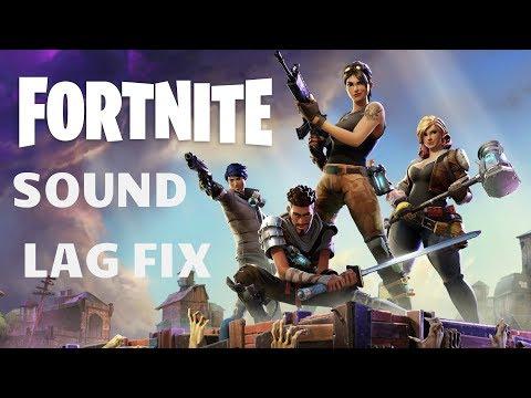 How To Fix Sound Glitch Lag in Fortnite