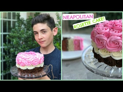 NEAPOLITAN ROSETTE CAKE - Episode 31 BAKING WITH RYAN