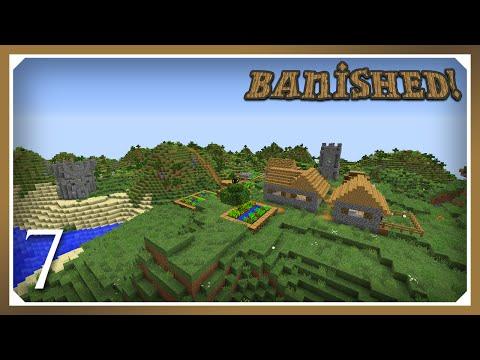 Minecraft Banished Modpack | Village & Greenhouse! | E07 (Harsh Survival Minecraft 1.10.2)