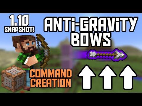 Minecraft: Anti-Gravity Bows (1.10 Snapshot) [Command Creation]