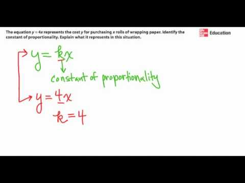 Identify the Constant of Proportionality