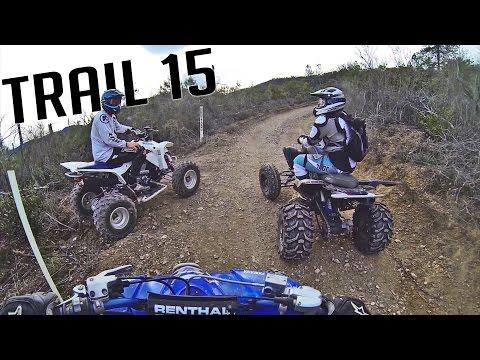 YFZ 450, Raptor 700, LTZ 400 ATV Adventure Riding on Trail 15