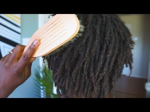 Tutorial: How To Brush Your Locs || Loc Journey
