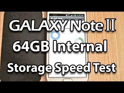 Samsung Galaxy Note 2 Read Write Speed Test (Internal and External Storage)