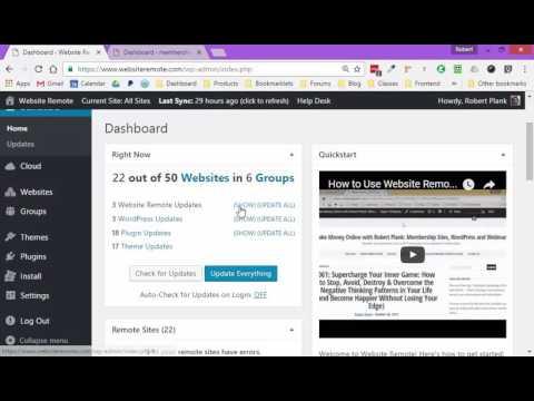 Website Remote: Manage Groups of WordPress Sites