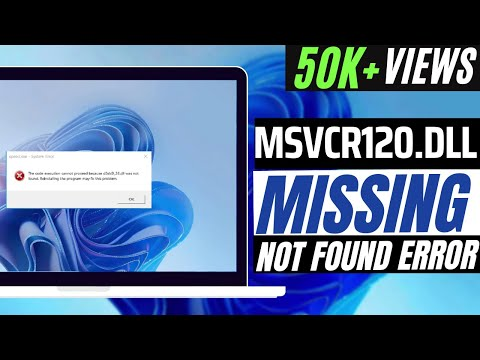 How To Fix msvcr120 dll Missing Error Windows