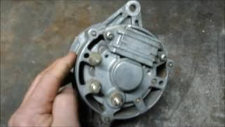 Como convertir un alternador en generador de energía  (primera parte )