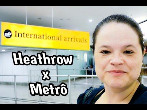 Como pegar o metrô chegando no Terminal 1 de Heathrow #148 #VEDAugust 15