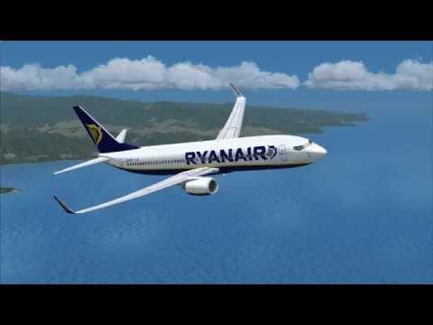 fsx ryanair very nice takeoff at nice/marseille airport