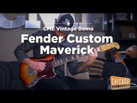 VERY RARE Vintage 1969 Fender Custom Maverick | CME Vintage Gear Demo