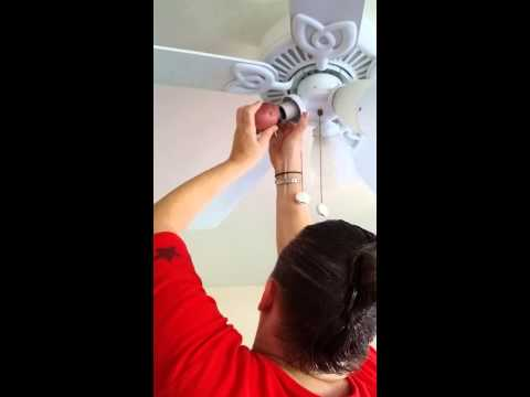 How to fix a broken light bulb.