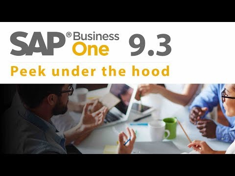 SAP Business One 9 3 New Features -  Peek Under The Hood!