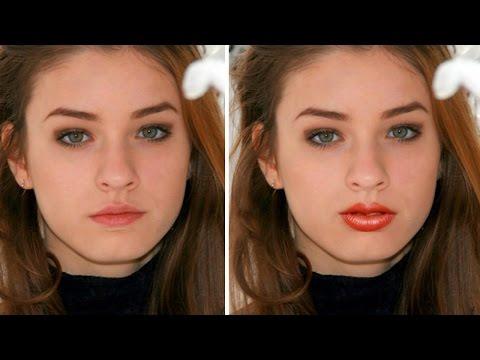 Lip Enhancement Job - Photoshop Tutorial [Photoshopdesire.com]