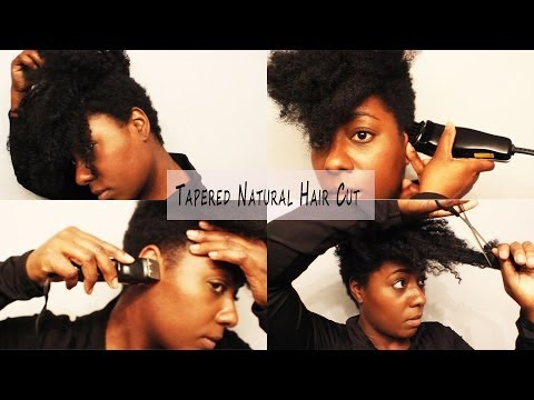Natural Hair Cut| How I Tapered It AGAIN Y