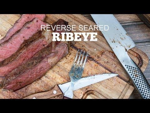 HUGE Reverse Seared Ribeyes