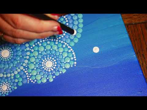 How to paint dot mandalas with Kristin Uhrig #30- The Mermaid