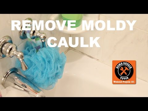 Remove and Replace Moldy Shower Caulk -- by Home Repair Tutor