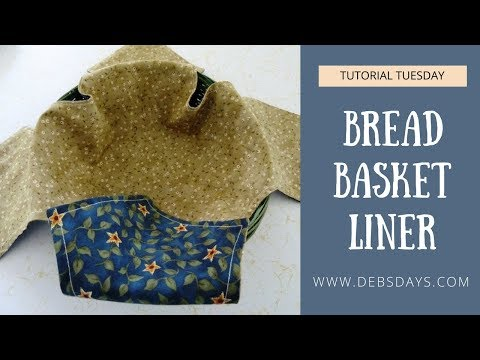Sew an Easy and Quick Bread Basket Liner with Fabric